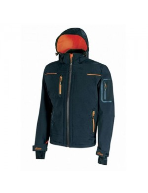 Softshell U-Power Space (blu-arancio fluo)