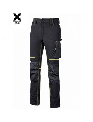 Pantaloni U-Power Atom Black Carbon/Giallo Fluo