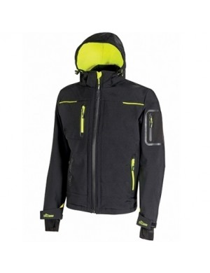 Softshell U-Power Space (nero-giallo fluo)